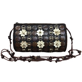 Ethnic Style Coconut Shell Crossbody Bag