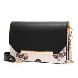 Korean Style Printing Chain Crossbody Bag