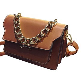 Retro Chain Adornment Crossbody Bag