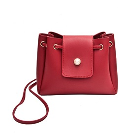 Candy Color Soft PU Cross Body Bag