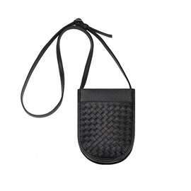 Concise Knitted Pattern Crossbody Bag
