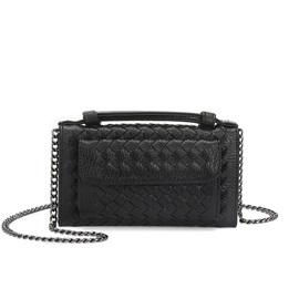 Fashion Knitted Pattern Chain Crossbody Bag