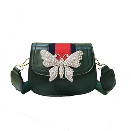 Butterfly Decoration PU Crossbody Bag