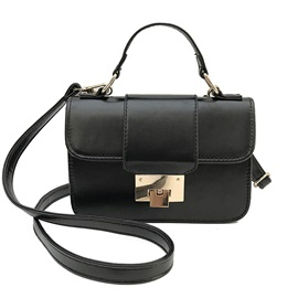 Well Match Plain PU Women Crossbody Bag