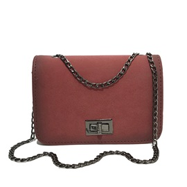 Particular Chain Solid Color Crossbody Bag