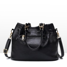 Noble Belt Decorated Solid Color Crossbody Bag