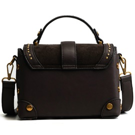 Modern Style Belt Decorated Rivets Adornment Crossbody Bag