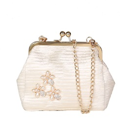 Chinese Style Hasp Floral Crossbody Bag