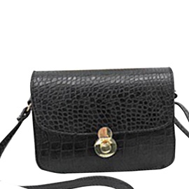 PU Thread Alligator Rectangle Crossbody Bags
