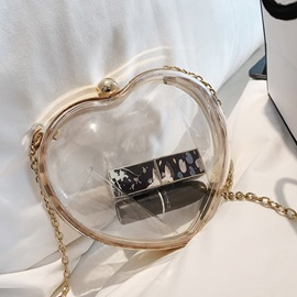 Heart Shaped ABS Plastic Chain Crossbody Bags