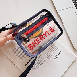 PVC Letter Thread Flap Crossbody Bags
