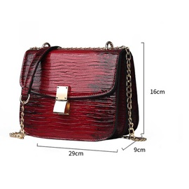 PU Fashion Gradient Color Crossbody Bags