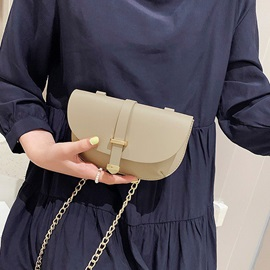 2019 New Style Belt-Decorated Saddle Crossbody Bag