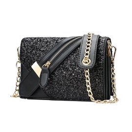 Chain PU Rectangle Crossbody Bags