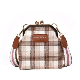 PU Plaid Crossbody Grid Bag