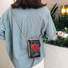 PU Chain Heart Shaped Crossbody Bag