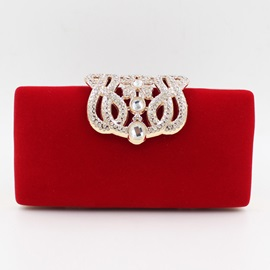 Solid Magnetic Snap Women Clutch&Evening Bag