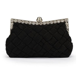 Beautiful Magnetic Snap Solid Women Evening Bag
