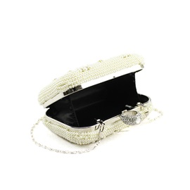 Graceful Pearls Decorated Women's Clutch