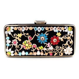 Vintage Floral Decorated Women's Clutch