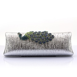 Transverse Peacock Pattern Clutches