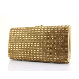 Deluxe Golden Color Evening Clutches