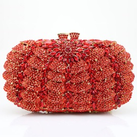 Lastest Hollow Diamond Decorated Evening Clutch