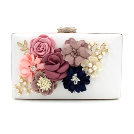 Elegant Floral Diamante Evening Clutch