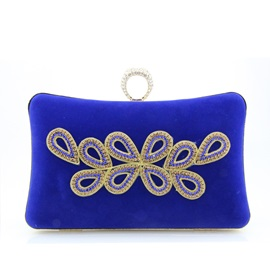 Graceful All Match Geometric Diamante Evening Clutch
