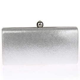 All-match Solid Color Chain Evening Clutch