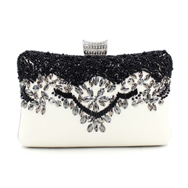 Graceful Beading Decoration Evening Clutch