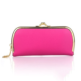 Candy Color Litchi Stria Evening Clutch