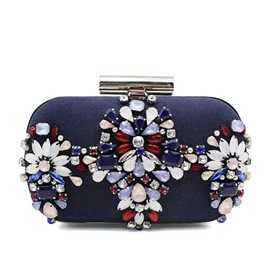 Elegant Handmade Beading Chain Evening Clutch