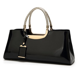 Noble Glossy PU Evening Clutch
