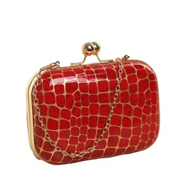 Vintage Stone Grain Chain Clutch