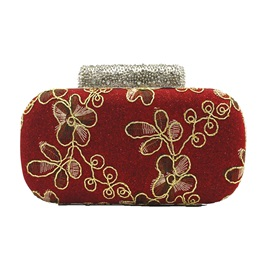 Retro Embroidery Rhinestone Mini Clutch