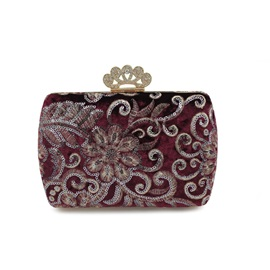 Classical Embossing Women Evening Clutch