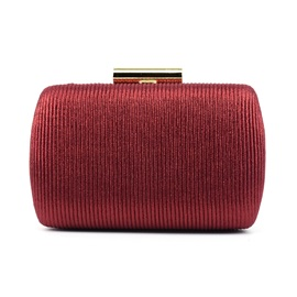Luxury Style Solid Color Grain Chain Evening Bag