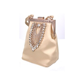 Barrel-Shaped Banquet Satin Clutches & Evening Bags