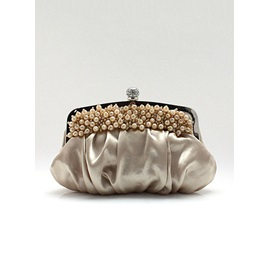 Spectacular Silk and Pearl Evening Bag