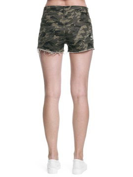 Simple Cotton Camouflage Women's Short