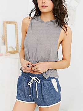 Casual Cotton Waistband Loose-Fit Short