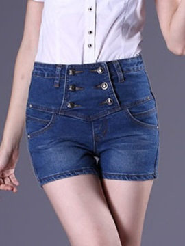 Chic High-Waist Double-Breasted Short
