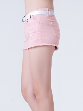 Candy Color Rough Selvage Denim Short