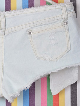 Drop-Waist Rough Selvage Shorts