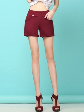 Solid Color Hemming Shorts
