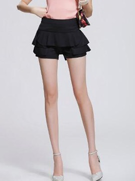 Falbala Pleated Skirt Shorts