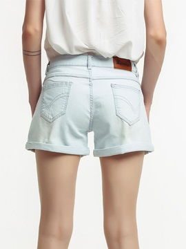 High Waist Pocket Women's Denim Shorts