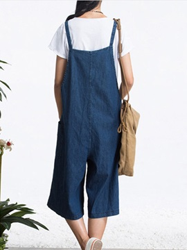 Simple Pocket Wide-Leg Overall
