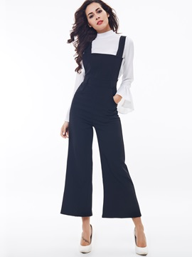 Slim-Fit Sleeveless Women Overall